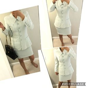 Authentic Chanel jacket and skirt set